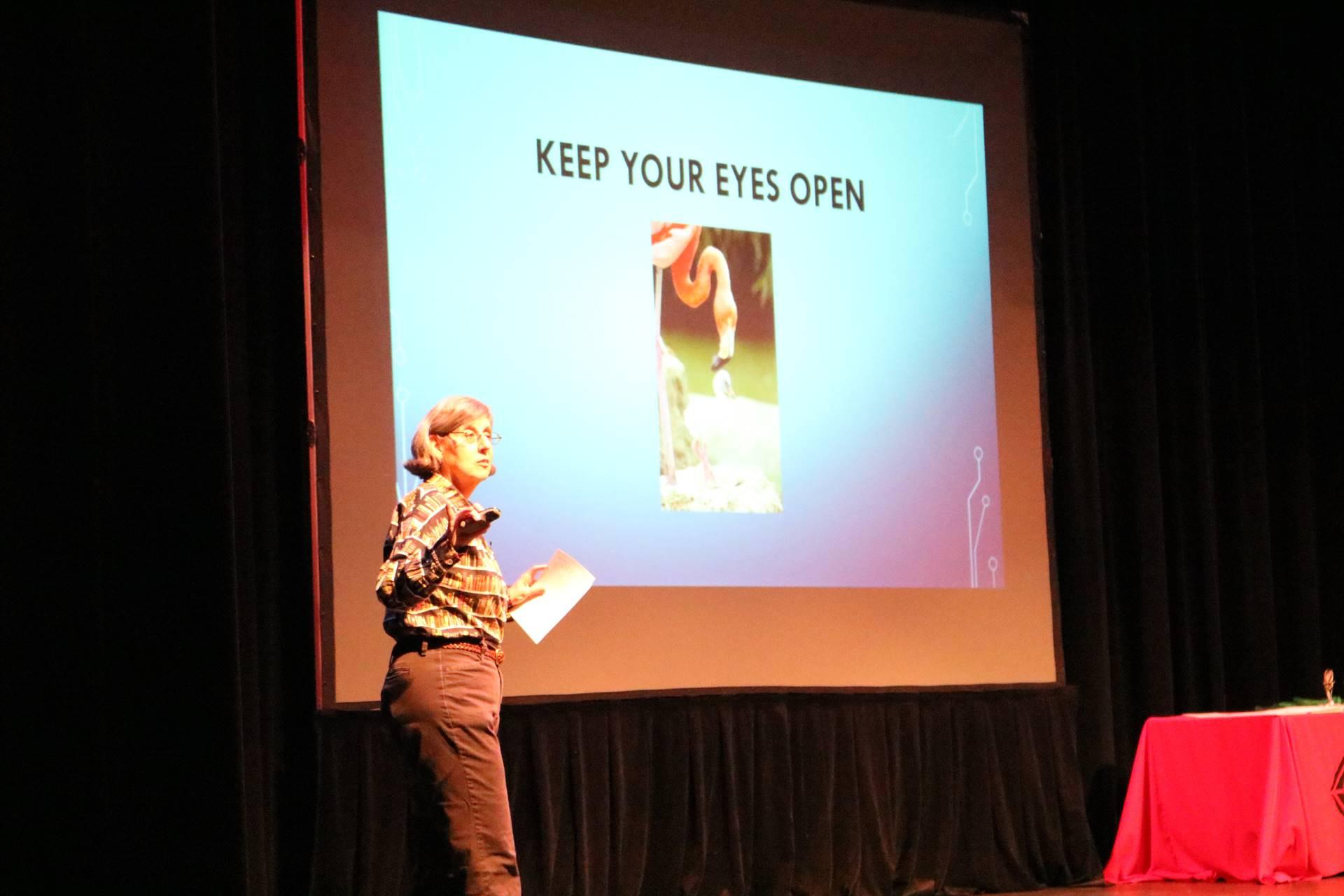 author presenting