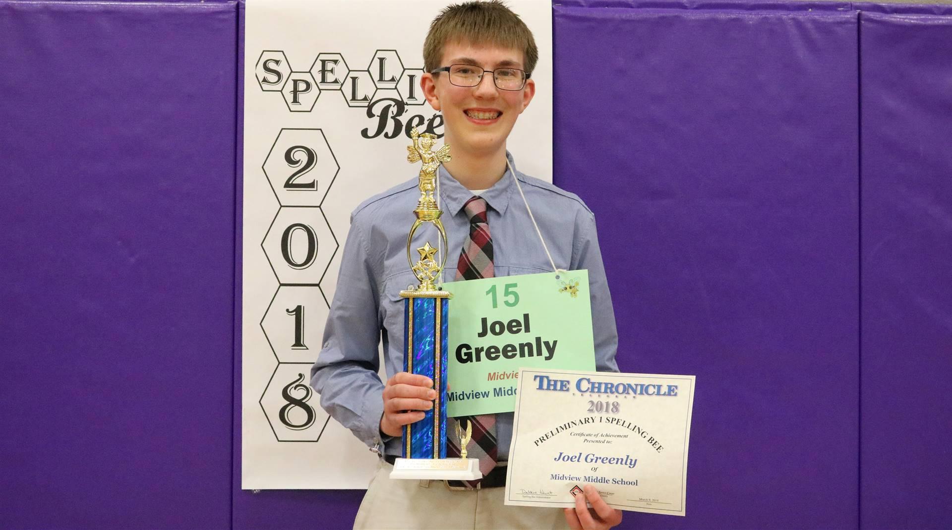 7 grade spelling winner