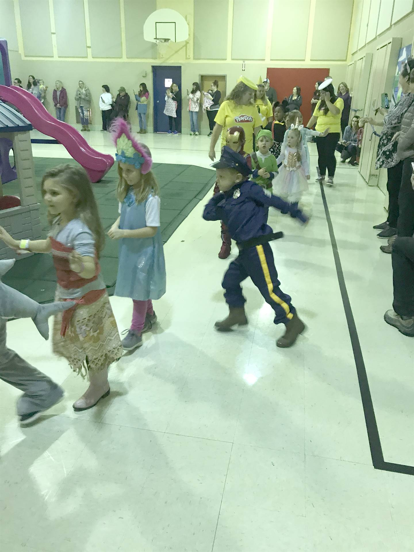halloween parade with preschoolers
