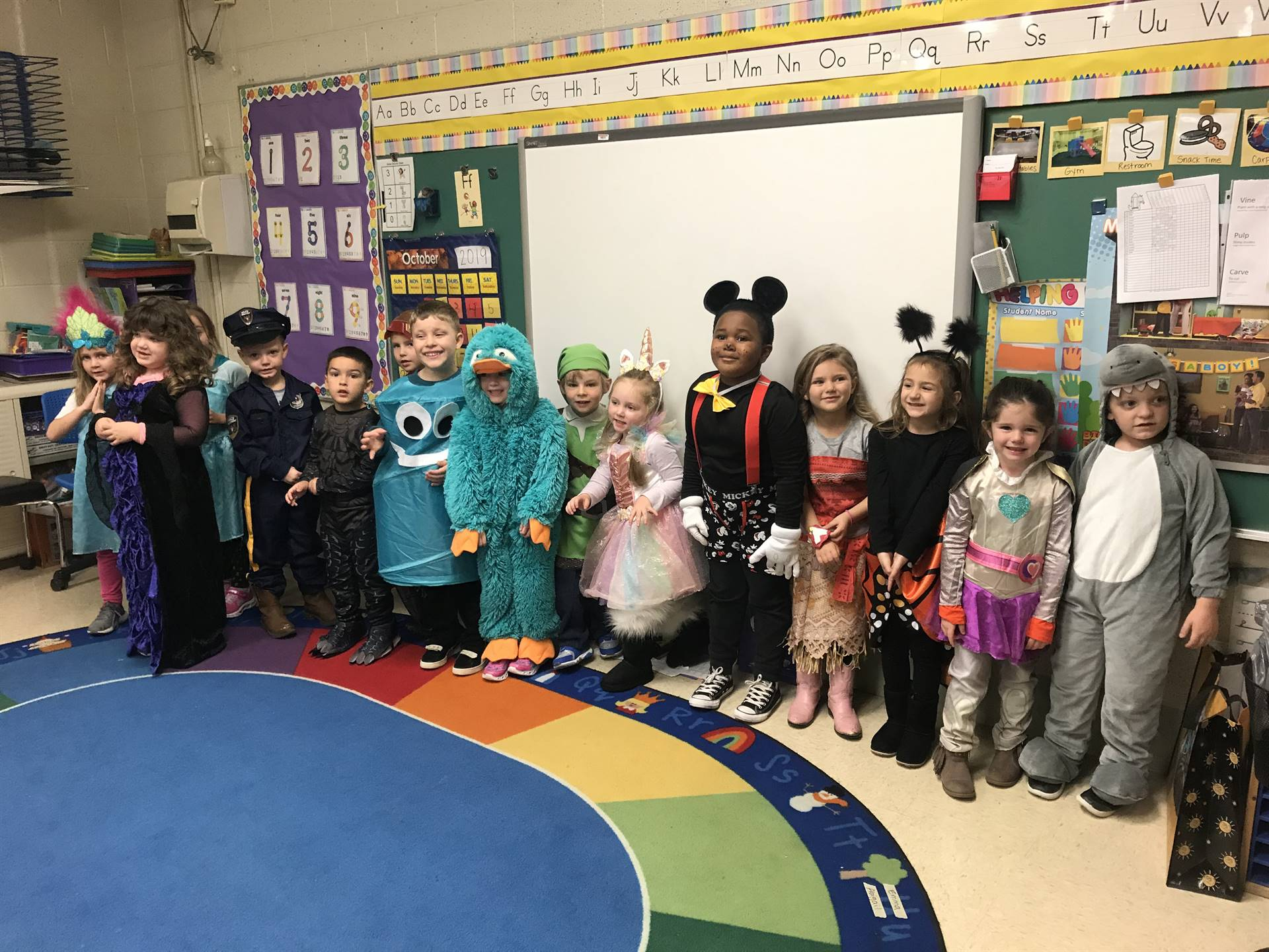 pre k class with costumes