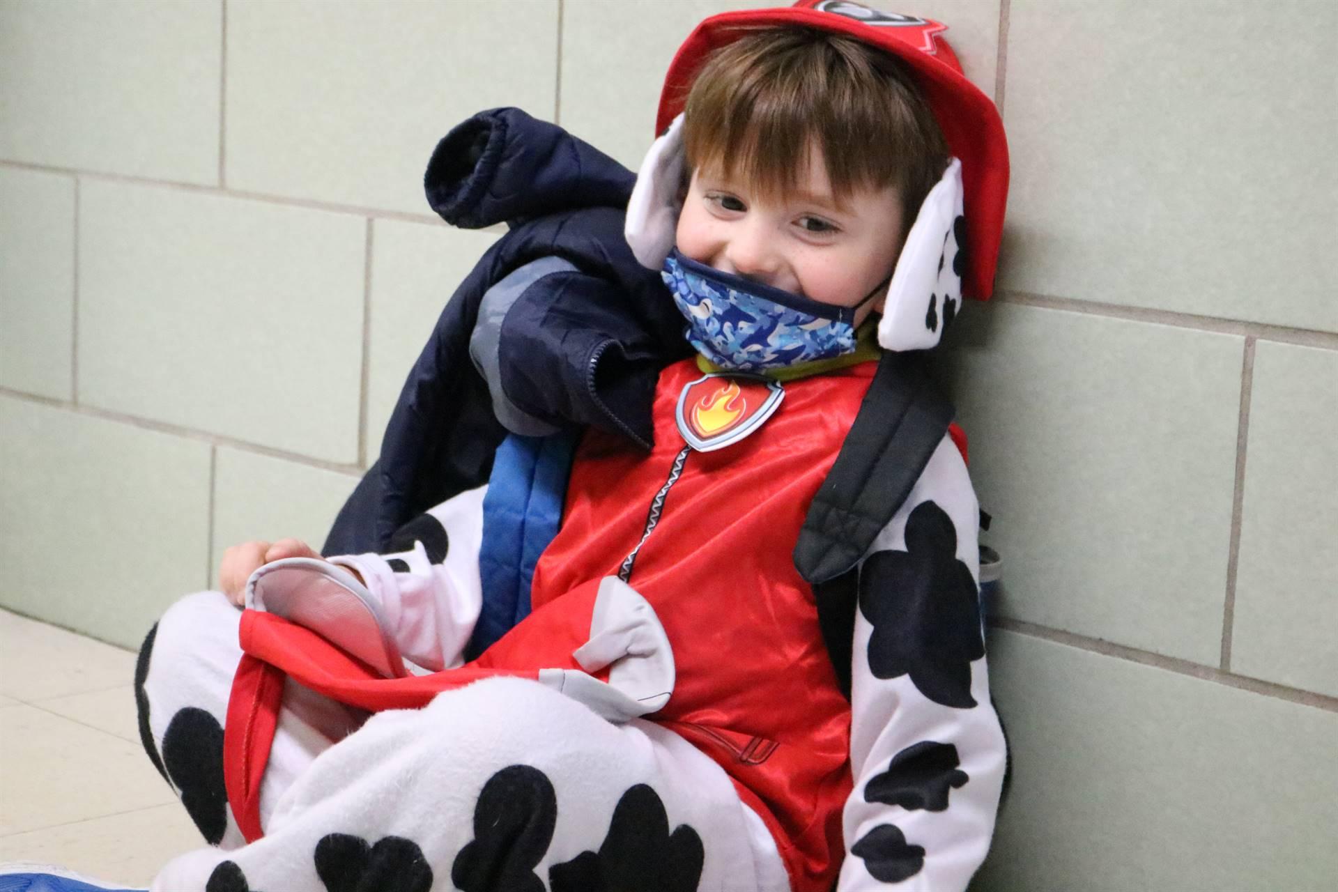 boy dressed as dog