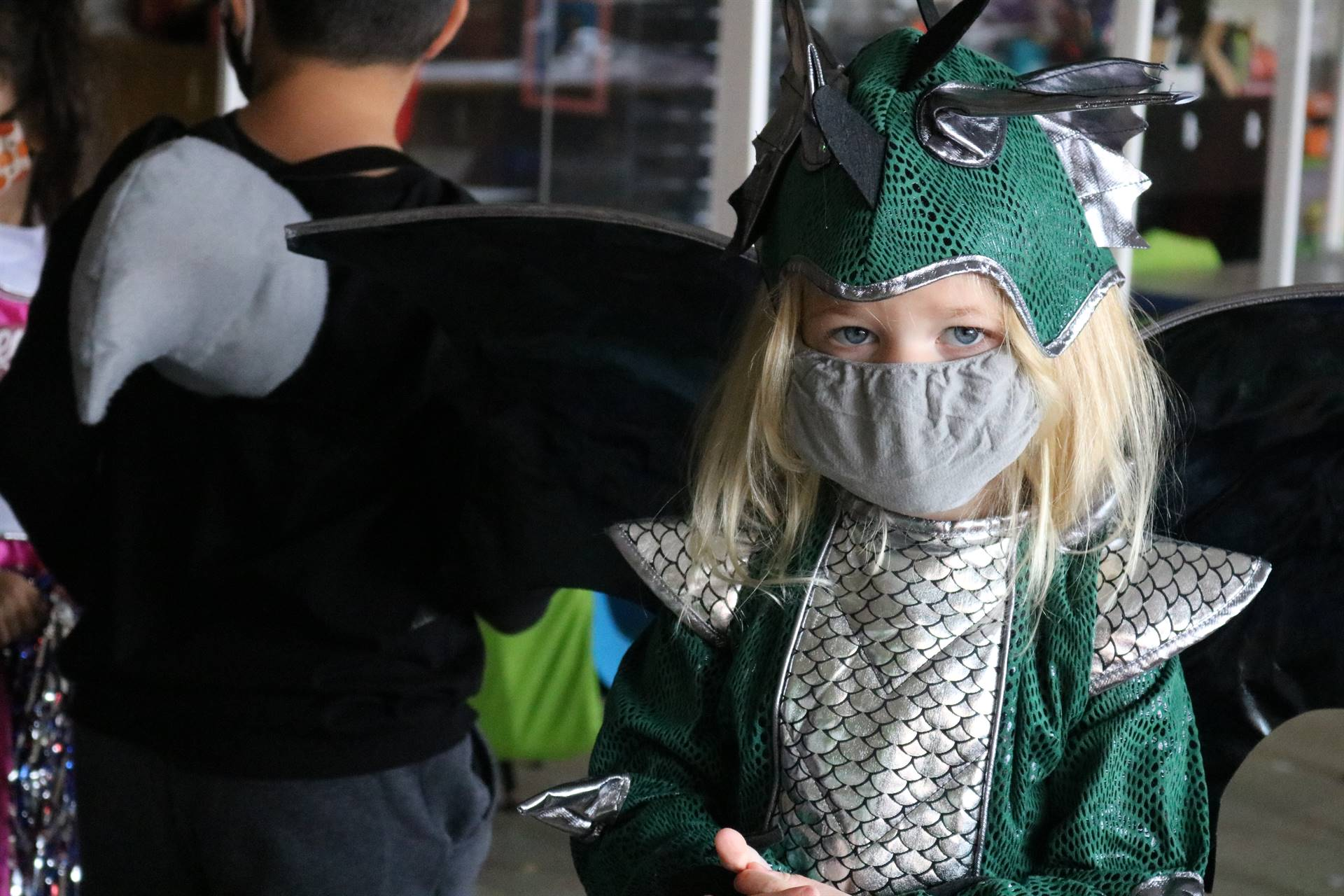 girl dressed as dragon