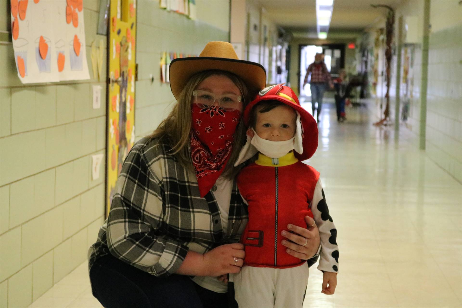 cowgirl and boy