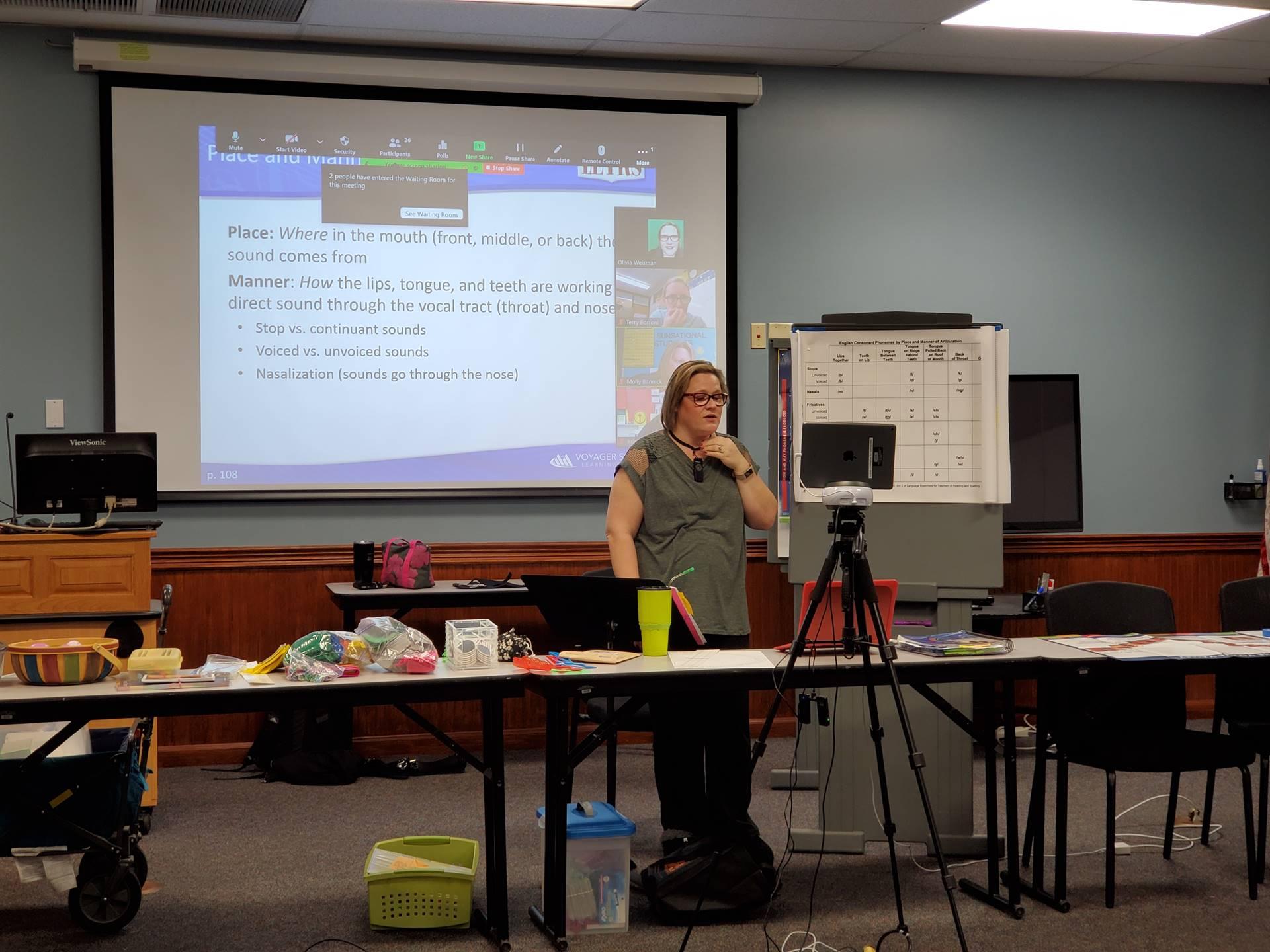 lady presenting