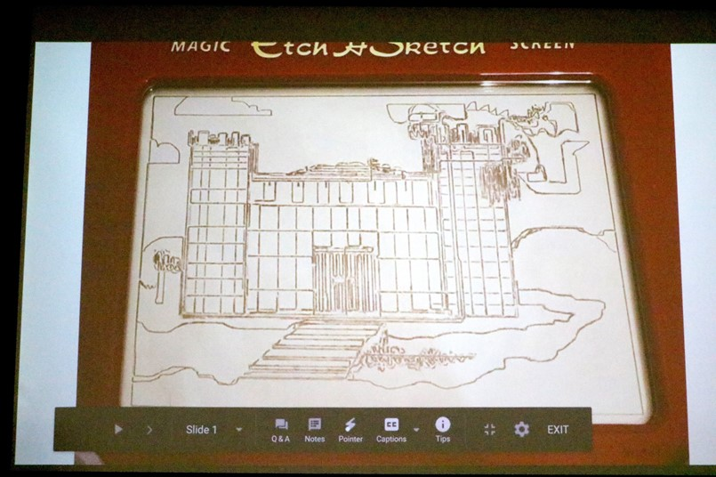 etch a sketch drawing