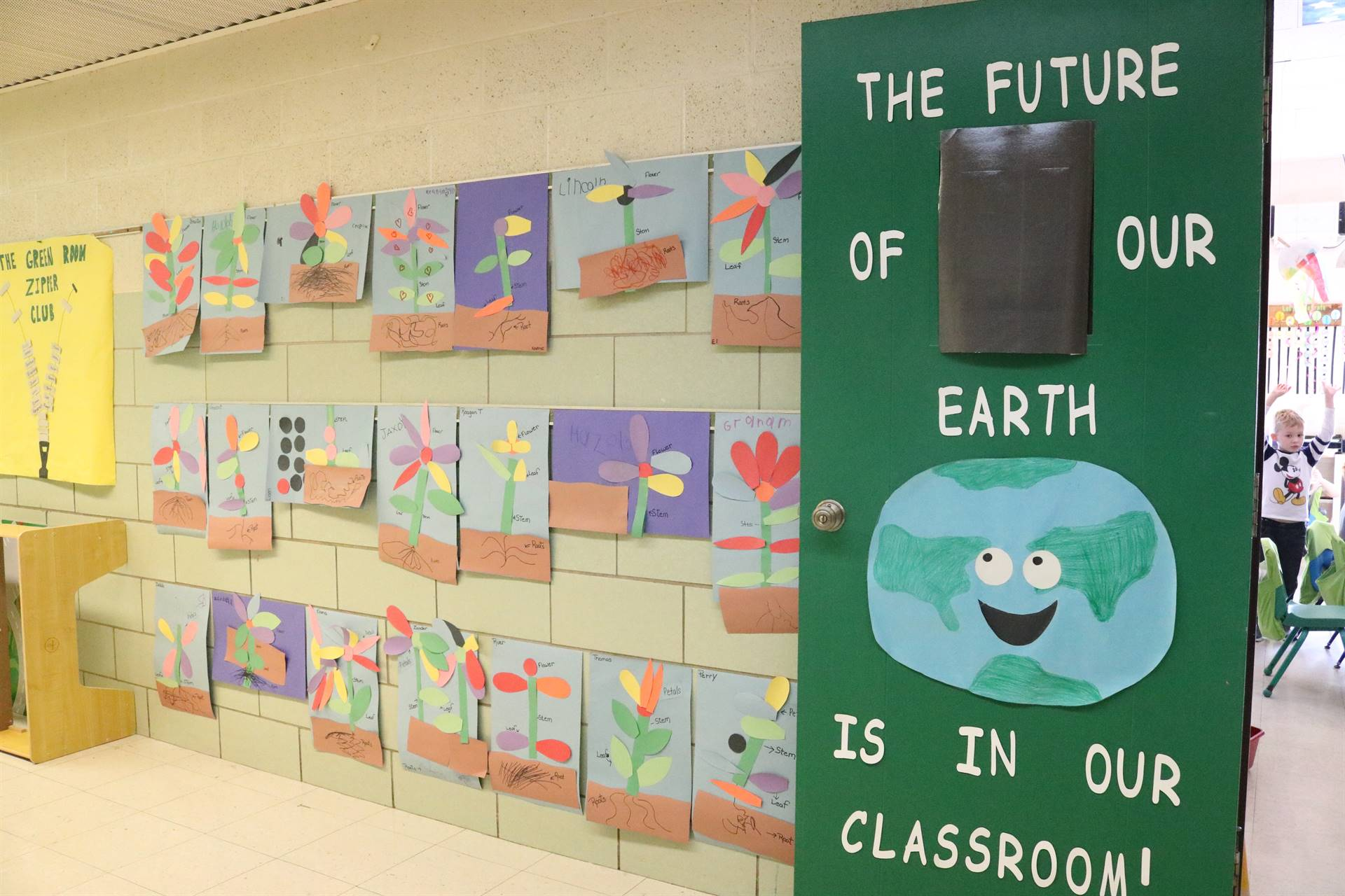 earth painted door