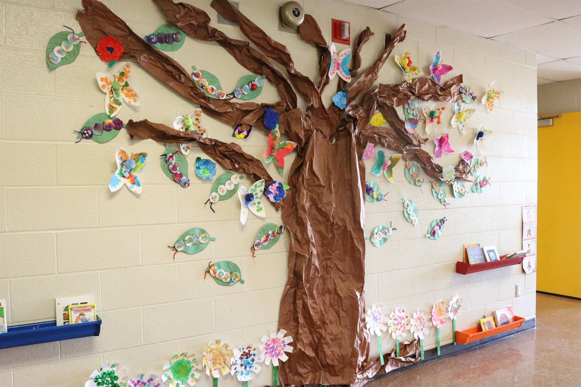 paper tree on wall